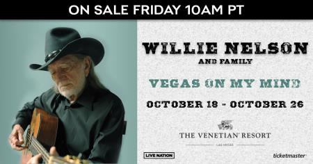 See Willie Nelson in Vegas