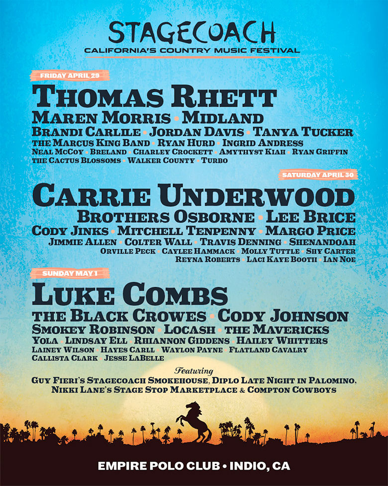 Stagecoach lineup