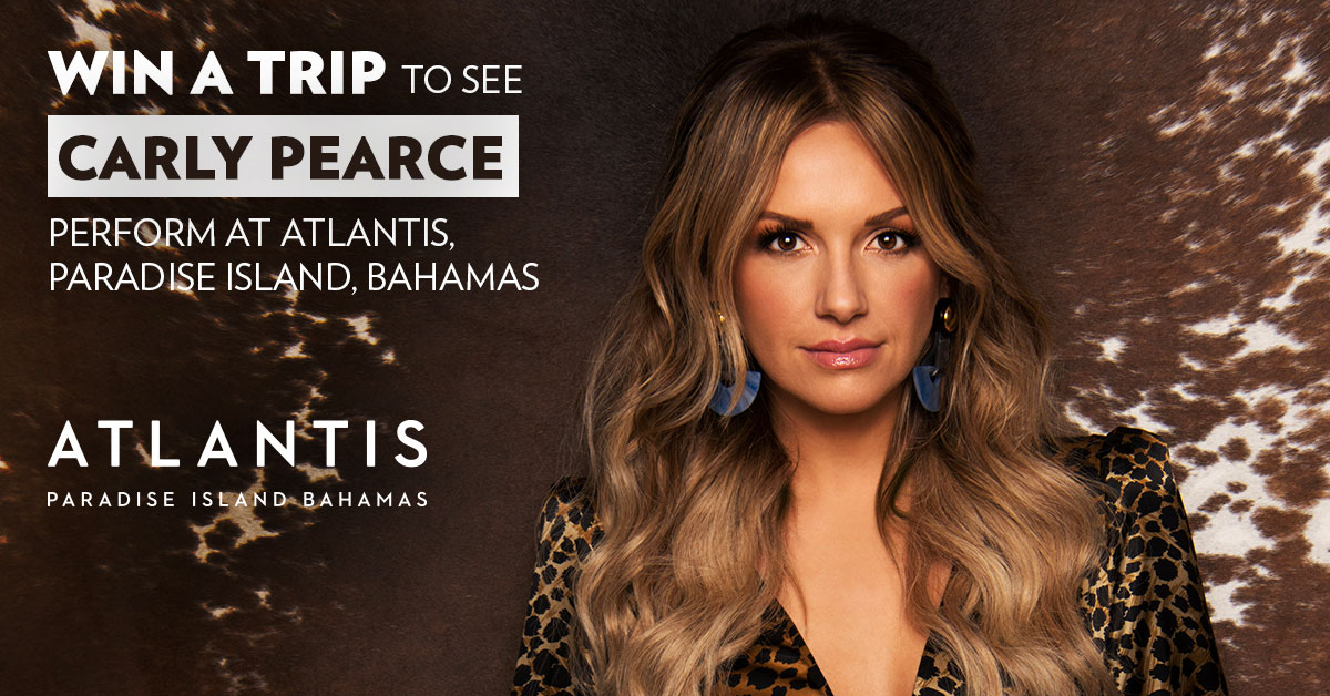 Win a trip to see Carly Pearce perform at Atlantis, Paradise Island, Bahamas